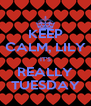 KEEP CALM, LILY IT'S REALLY TUESDAY - Personalised Poster A4 size