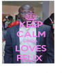 KEEP CALM LINDA LOVES FELIX  - Personalised Poster A4 size