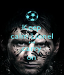 Keep calm Lionel and carry on - Personalised Poster A4 size