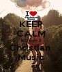 KEEP CALM & Listen 2 Christian  Music - Personalised Poster A4 size