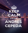 KEEP CALM LISTEN  ANDRES  CEPEDA  - Personalised Poster A4 size