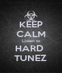 KEEP CALM Listen to HARD  TUNEZ - Personalised Poster A4 size