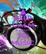 KEEP CALM & LISTEN TO MUSIC - Personalised Poster A4 size