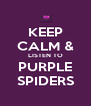 KEEP CALM & LISTEN TO PURPLE SPIDERS - Personalised Poster A4 size