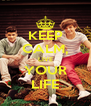 KEEP CALM, LIVE YOUR LIFE - Personalised Poster A4 size