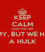 KEEP CALM LOKI HAS AN ARMY, BUT WE HAVE A HULK - Personalised Poster A4 size