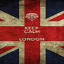 KEEP CALM  LONDON  - Personalised Poster A4 size