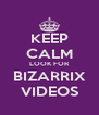 KEEP CALM LOOK FOR BIZARRIX VIDEOS - Personalised Poster A4 size