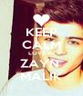 KEEP CALM LOVE <3 ZAYN  MALIK - Personalised Poster A4 size