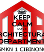 KEEP CALM LOVE ARCHITECTURAL DEPARTMENT - Personalised Poster A4 size