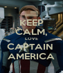 KEEP CALM, LOVE CAPTAIN  AMERICA - Personalised Poster A4 size