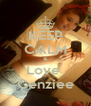 KEEP CALM & Love  Cenziee - Personalised Poster A4 size