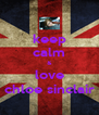 keep calm & love chloe sinclair - Personalised Poster A4 size