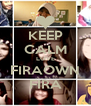 KEEP CALM LOVE FIRAOWN FIRA - Personalised Poster A4 size