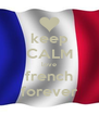 keep CALM love french forever - Personalised Poster A4 size