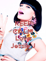 KEEP CALM  Love Jessie J - Personalised Poster A4 size