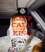 KEEP CALM LOVE KING  - Personalised Poster A4 size