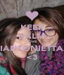 KEEP CALM LOVE MARIANTONIETTAAAA <3 - Personalised Poster A4 size