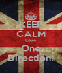 KEEP CALM Love One Direction! - Personalised Poster A4 size