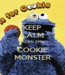 KEEP CALM LOVE THE COOKIE MONSTER - Personalised Poster A4 size