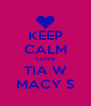KEEP CALM LOVE TIA W MACY S - Personalised Poster A4 size
