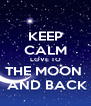 KEEP CALM LOVE TO THE MOON   AND BACK - Personalised Poster A4 size