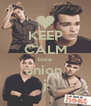 KEEP CALM love union  j - Personalised Poster A4 size