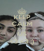 KEEP CALM LOVE US <3 <3 ;) - Personalised Poster A4 size