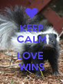 KEEP CALM  LOVE  WINS - Personalised Poster A4 size