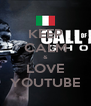 KEEP CALM & LOVE YOUTUBE - Personalised Poster A4 size