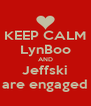KEEP CALM LynBoo AND Jeffski are engaged - Personalised Poster A4 size