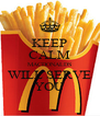 KEEP CALM MACDONALDS WILL SERVE YOU - Personalised Poster A4 size