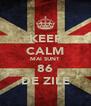 KEEP CALM MAI SUNT  86 DE ZILE - Personalised Poster A4 size