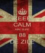 KEEP CALM MAI SUNT 88 DE ZILE - Personalised Poster A4 size