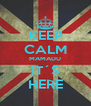 KEEP CALM MAMADU IT´S HERE - Personalised Poster A4 size
