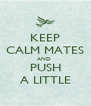KEEP CALM MATES AND  PUSH A LITTLE - Personalised Poster A4 size