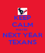 KEEP CALM MAYBE  NEXT YEAR TEXANS - Personalised Poster A4 size