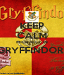 KEEP CALM MICHAELs  IN GRYFFINDOR   - Personalised Poster A4 size