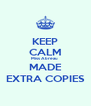 KEEP CALM Miss Abreau  MADE EXTRA COPIES - Personalised Poster A4 size