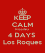 KEEP CALM MISSING  4 DAYS  Los Roques - Personalised Poster A4 size