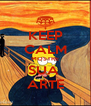 KEEP CALM MOSTRE SUA  ARTE - Personalised Poster A4 size