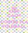 KEEP CALM MY DAUGHTER PLAYS VOLEIBALL - Personalised Poster A4 size