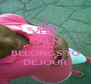 KEEP CALM MY HEART BELONGS TO DEJOUR - Personalised Poster A4 size