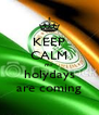 KEEP CALM my holydays are coming - Personalised Poster A4 size