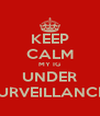 KEEP CALM MY IG UNDER SURVEILLANCE  - Personalised Poster A4 size