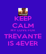 KEEP CALM MY LOVE FOR TREVANTE IS 4EVER - Personalised Poster A4 size