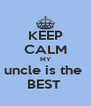 KEEP CALM MY uncle is the  BEST  - Personalised Poster A4 size