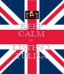 KEEP CALM N LISTEN 2 TULISA - Personalised Poster A4 size
