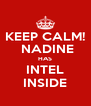 KEEP CALM!  NADINE HAS INTEL INSIDE - Personalised Poster A4 size