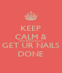 KEEP CALM & NAIL BAR by Bianca GET UR NAILS DONE - Personalised Poster A4 size